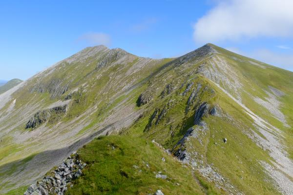 Photo of Looking back to Binnein Mor on left