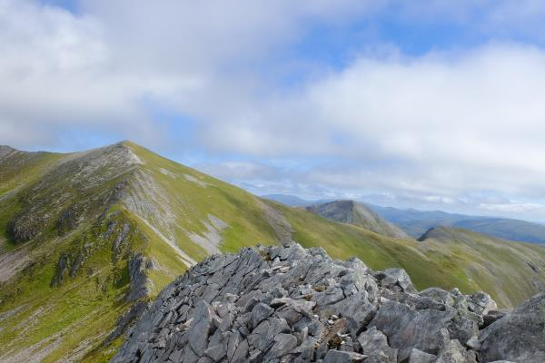 Photo of Looking back whilst ascending Na Gruagaichean