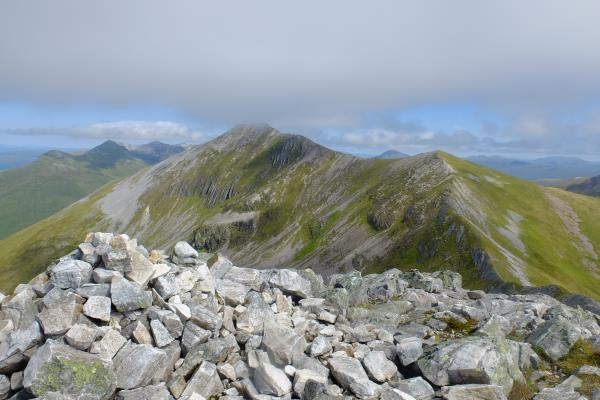 Photo of Looking back to Binnein Mor from Na Gruagaichean