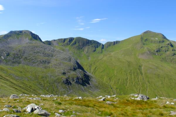 Photo of Devils ridge leading to Sgurr a' Mhaim on right