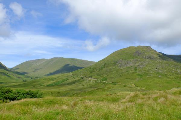 Photo of Beinn a' Chochuill coming into view