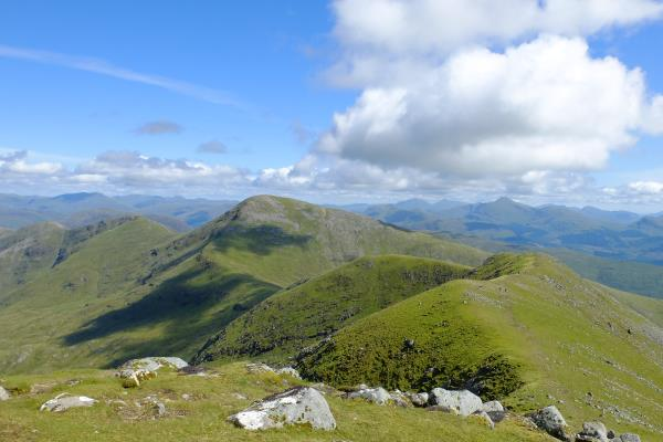 Photo of Beinn Eunaich and the remaining hills of the route to the left