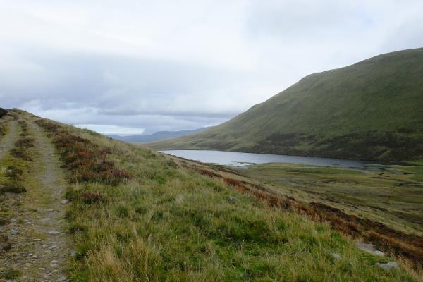Photo of Lochan a' Mhuilinn coming into view